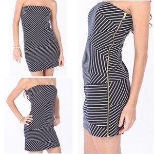 NWT BANANA REPUBLIC Striped Strapless Dress